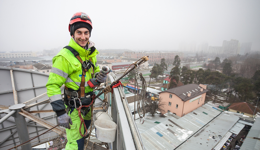 Výškové práce na střeše